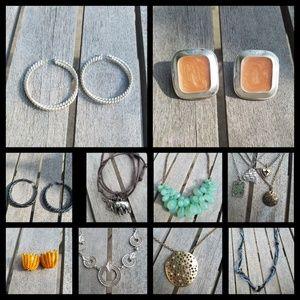 Jewelry lot necklaces, earrings,bracelets, trendy